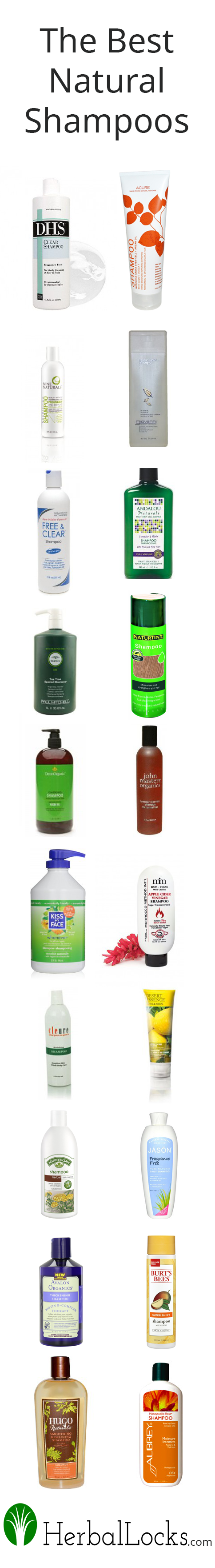 The Best Natural Shampoos - http://www.HerbalLocks.com